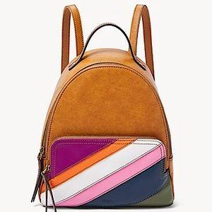 FOSSIL Leather Colour-Block Fashion Rucksack